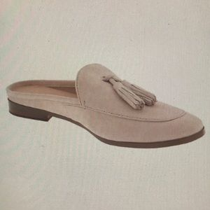 NWT & box! Banana Republic suede Demi tassel slide